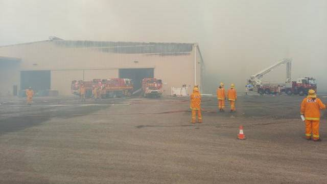 SHED FIRE: CFA on the scene at the St Arnaud fire on Sunday, April 11. Picture: CONTRIBUTED.