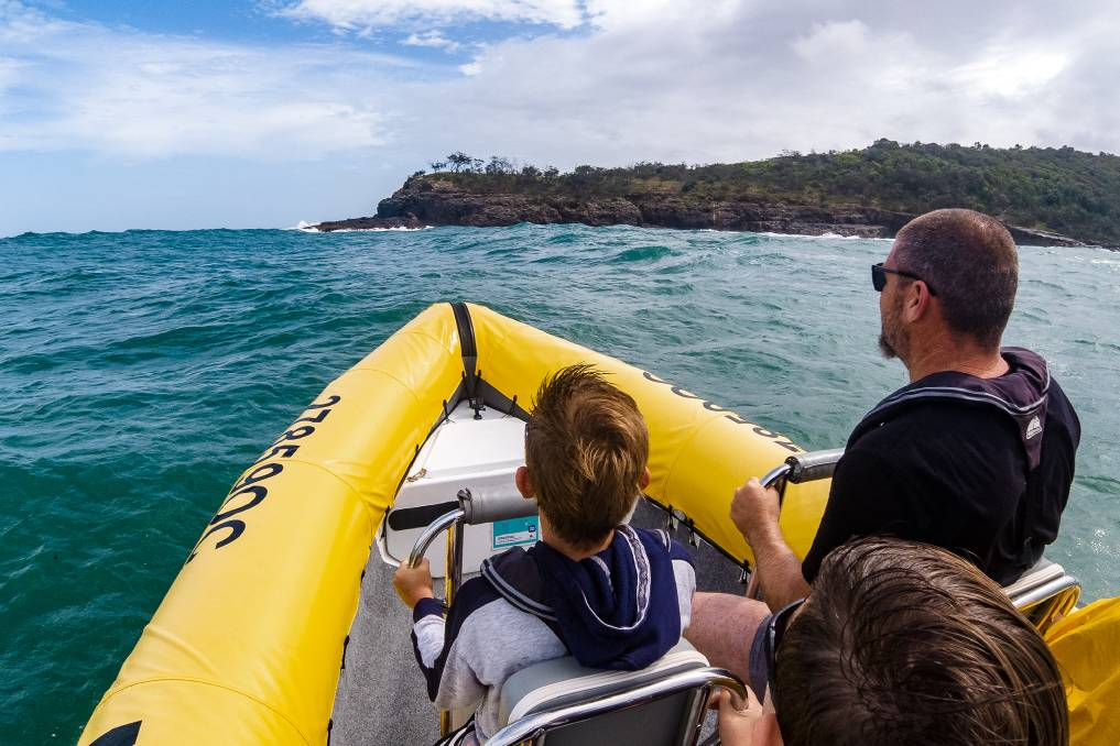 The Noosa Ocean Rider is an exhilarating trip into the waves of the open water.