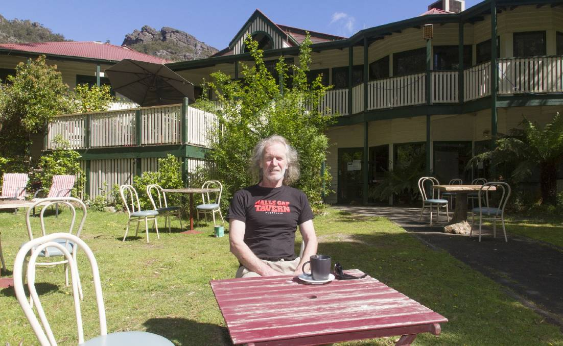 TERRY'S TAVERN: Halls Gap Tavern owner Terry Convery has the space available to fit more people, in line with easing outdoor dining restrictions in regional Victoria. Picture: PETER PICKERING
