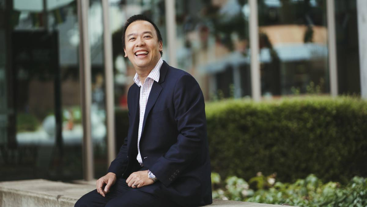 Humour expert at ANU Dr David Cheng. Picture: Dion Georgopoulos