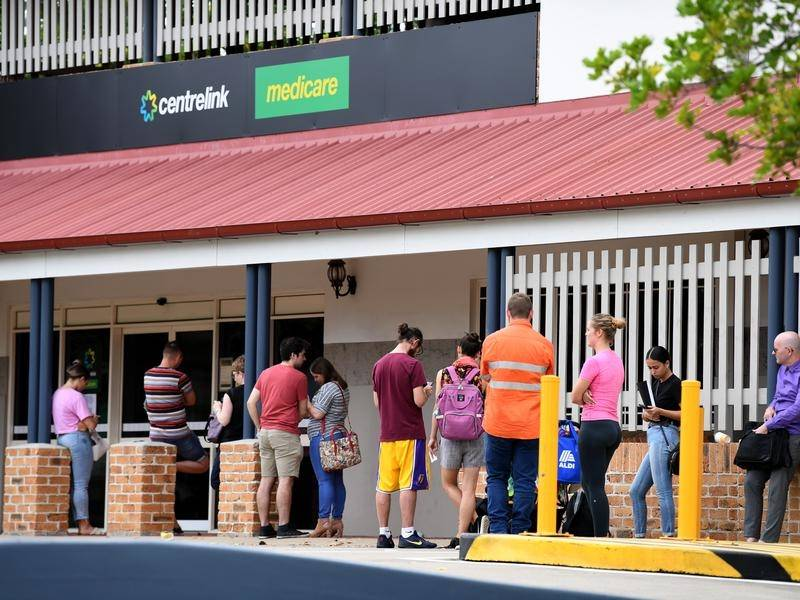 Centrelink offices have been inundated with people trying to register for the Jobseeker allowance.